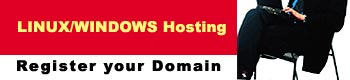 Register your Domain :::: Linux/Windows Hosting, Web Designing, Interactive Multimedia CDROM's/Presentations